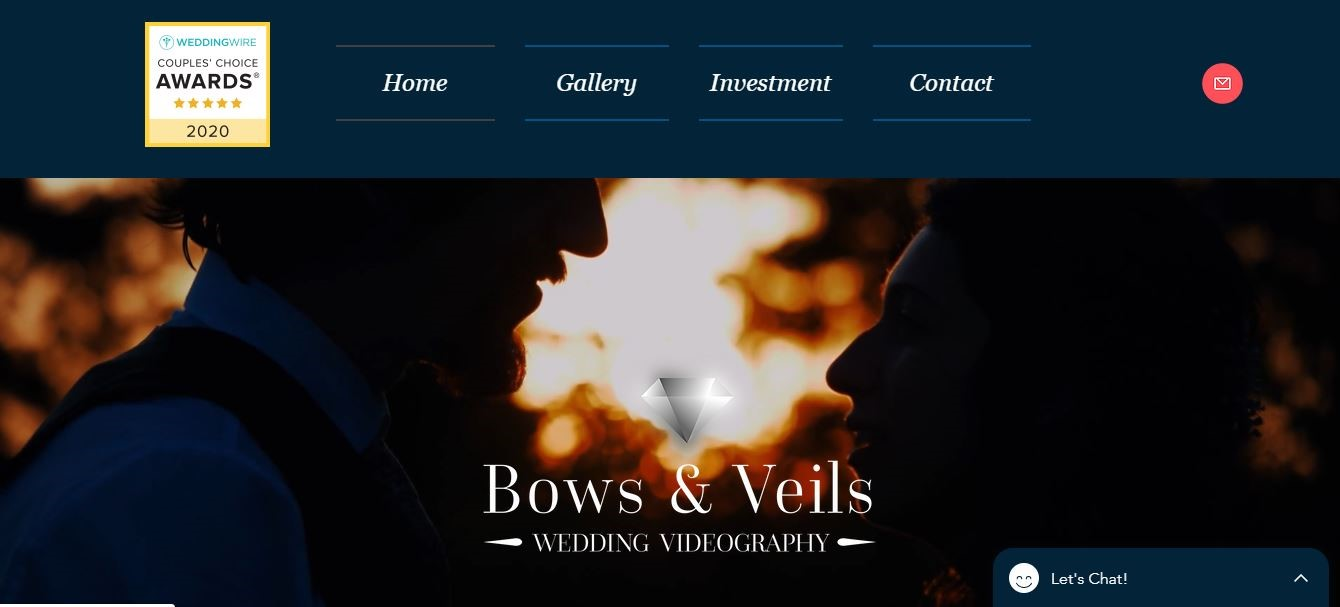 Bows and Veils web design